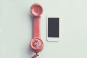 retro telephone & mobile phone