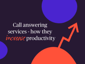 call answering service and productivity