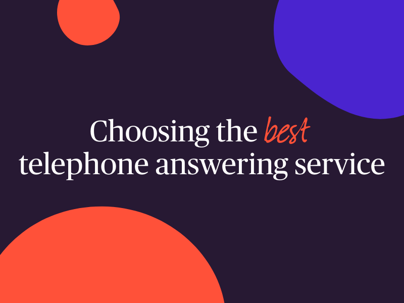 text - choosing best telephone answering service