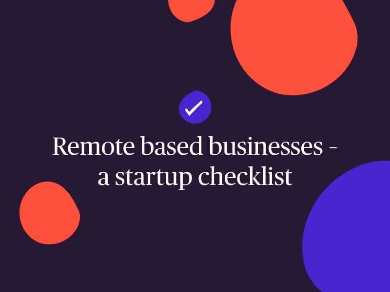 remote based business checklist